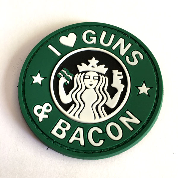 PATCH I LOVE GUNS GREEN