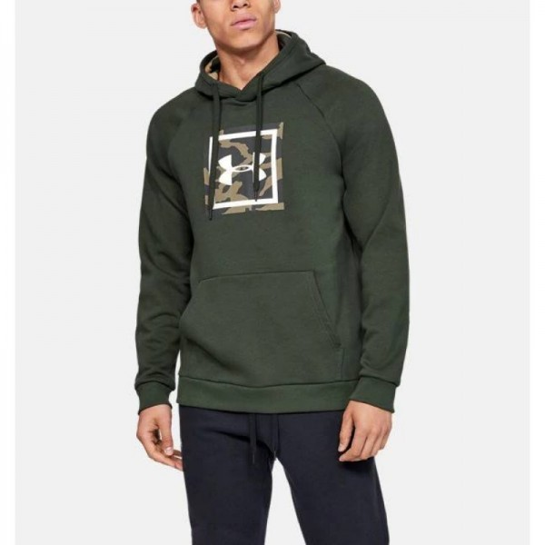 UNDER ARMOUR RIVAL FLEECE PRINTED HOODIE ΧΑΚΙ